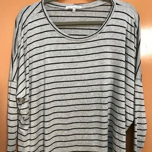 Red Haute Striped Slouchy L/S Tee Size M